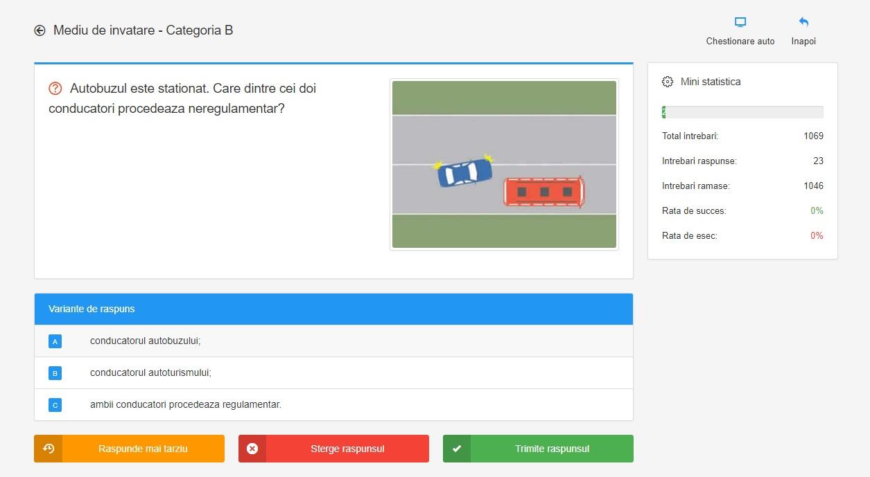 Chestionare auto online