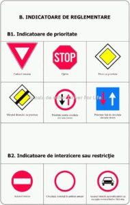 Indicatoare de reglementare Indicatoare de prioritate 1
